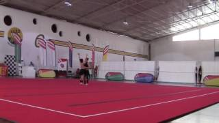 Par Fem: Joana e Luana - Ginástica Acrobática - Campeonatos Nacionais Escolares Aveiro 2016