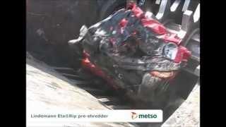 Lindemann EtaRip scrap pre-shredder