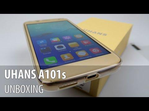 UHANS A101s Unboxing în Limba Română (Telefon entry level 3G)
