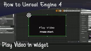 How to play in widgets unreal engine 4 umg tutorial videos