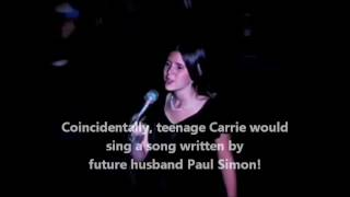 CARRIE FISHER teenage singing performance BRIDGE OVER TROUBLED WATER Paul Simon DEBBIE REYNOLDS