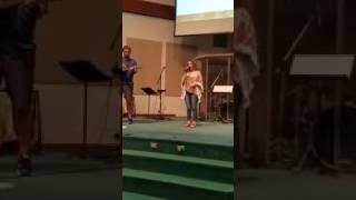 G singing her original Heaven's Sound