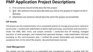 How to Write PMP Application Descriptions (Examples Provided)