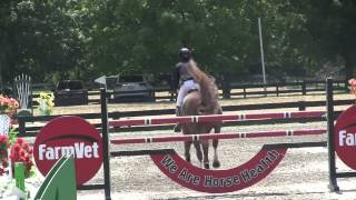 Mallory Vale and Ashway Calisto winning Low JrAO Jumper Classic