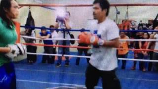 Manny Pacquiao- shows off hand speed, accuracy, and POWER!!