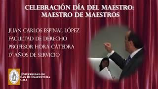 Docente Juan Carlos Espinal López - Universidad de San Buenaventura Cali