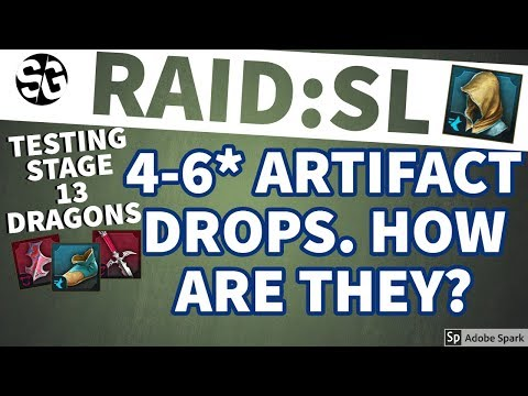 [RAID SHADOW LEGENDS] STAGE 13 ARTIFACTS 4-6* - GOOD LOOT?