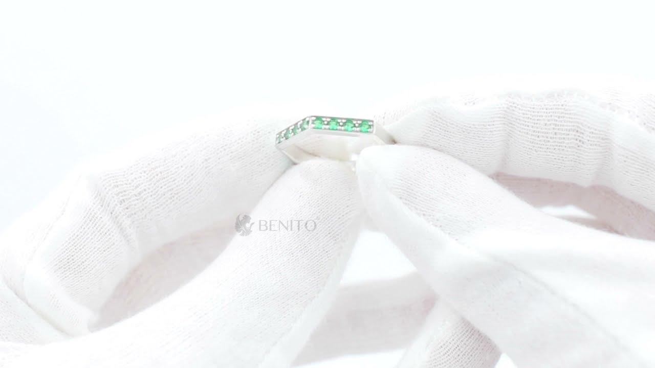 Aria Ring Green Nanocrystal Stones