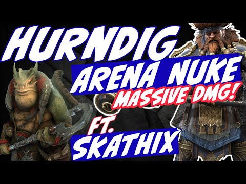 Hurndig with Skathix arena nuking. New fusion testing. Raid Shadow Legends