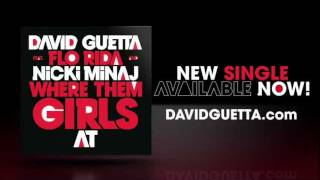 David Guetta feat Flo Rida & Nicki Minaj - Where Them Girls At - Lyrics video