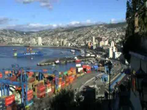 Viaje por Sudamerica di Giacomo Sanesi. Valparaiso (CIL). 01302 – vista sul porto