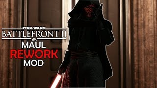 DARTH MAUL REWORK ~ Deflect, New Abilities - Star Wars Battlefront 2 MODS