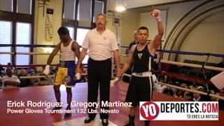 Erick Rodriguez vs Gregory Martínez 132 Lbs. novato Power Gloves Tournament
