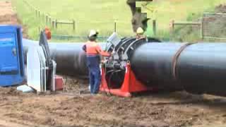 Butt-Fusion welding of 1200mm PN16 HDPE water main