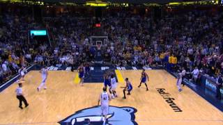 Stephen Curry's half-court buzzer beater vs Grizzlies (Chris Smoove Splash Song)