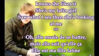 latin girl justin bieber traduction lyrics