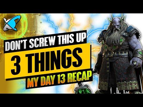 FINAL STRETCH DON'T SCREW UP | Underpriest Brogni Day 13 Recap | BGE's Guides | RAID: Shadow Legends