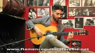 Antonio Sánchez plays the Juan Montero 1998 flamenco guitar for sale