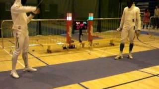 Irish Open 2009 Mens Epee Final Joaquim Cordeiro , POR  Michele Bino, ITA part 4 of 5