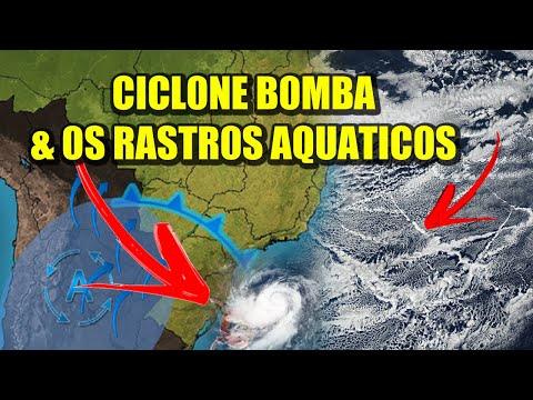 Ciclone Bomba provocado por rastros aquáticos?