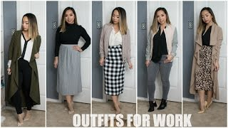 Outfits for Work - Mules, Midi Skirts & Dusters | Winter/Spring 2017 | STYLE