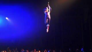 White Mink aerial hoop act 2015