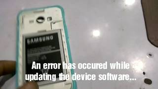How to fix An error has occured while updating the device software without flashing