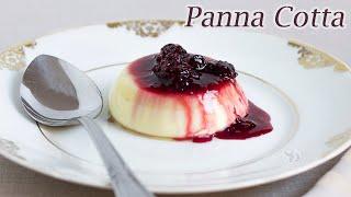 Panna Cotta c/ calda de Frutas Vermelhas - Sobremesa Tradicional Italiana | Receita Sandra Dias