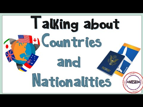Talking about countries and nationalities- YouTube