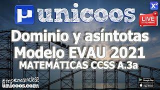 Imagen en miniatura para LIVE!!! Modelo EvAU 2021- Matemáticas CCSS 03 - Ejercicio A.3a - Dominio y Asíntotas