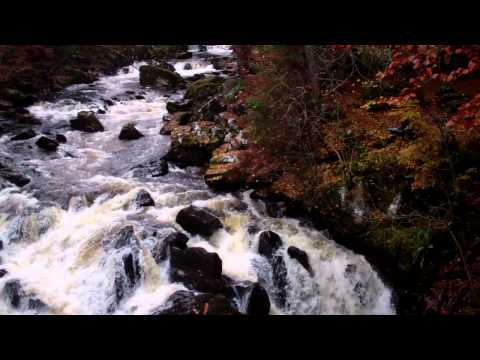 Autumn Waterfall Hermitage Highland Perthshire Scotland