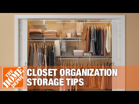Get closet organization tips from The Home Depot.