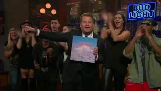 CL( lifted) in the late late show with James corden