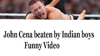 WWE India Fights - John Cena beaten by Indian boys Funny Video