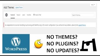 [Fixed] An unexpected error occured.Something may be wrong with Wordpress/server's configuration