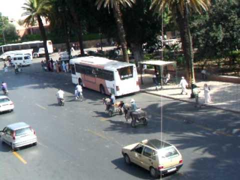 Traffic in Marrakech, Morocco