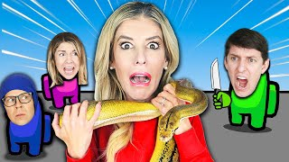 If You LOSE in Among Us You Have To Wear a Giant Snake Challenge - Zamfam Gaming