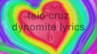 taio cruz dynomite lyrics