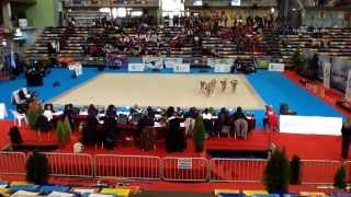 Gimnasia ritmica Nacional de base conjuntos Guadalajara 2013 Santander cadete