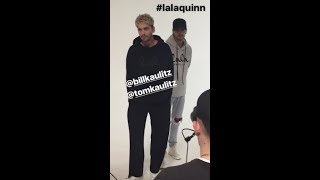[NEW VIDEO] Bill & Tom Kaulitz Shooting for Lala Berlin - Berlin, Germany [06.09.2017]