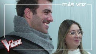 Álvaro de Luna y María Espinosa llegan verdes horas antes de la Batalla final | Más Voz 2019