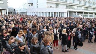 Minute de silence à l'université Paris 8