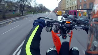 Typical daily commuting with a Supermoto (KTM 530 EXC)