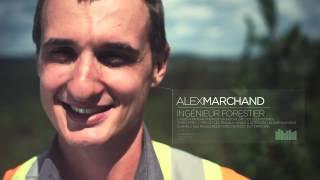 Alex Marchand, ingénieur forestier, Rébec