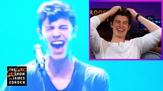 Shawn Mendes Reacts to His Voice Cracks #LateLateShawn