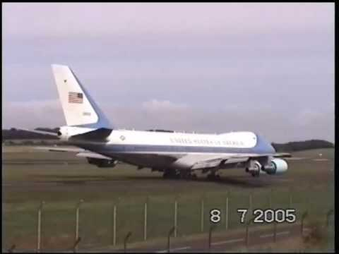 Air Force One At Prestwick, Scotland