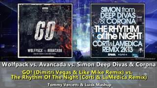 GO! (DV & LM Remix) vs. The Rhythm Of The Night (Corti & LaMedica Remix)