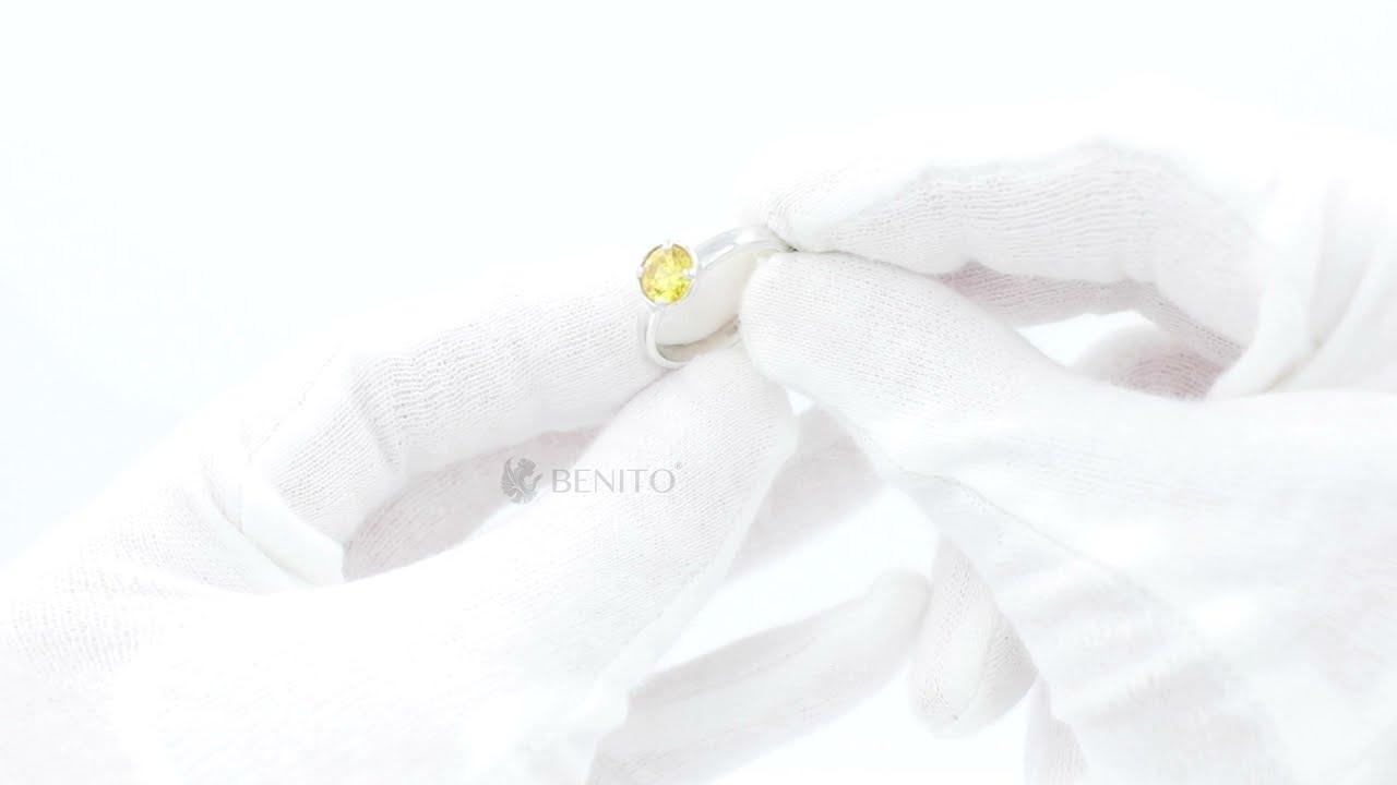 Emma Ring Yellow Zircon Stone