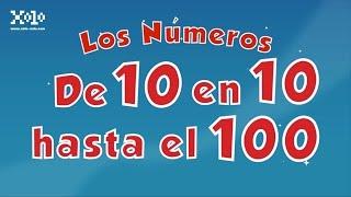 De 10 en 10 hasta el 100 en español para niños - Videos Aprende