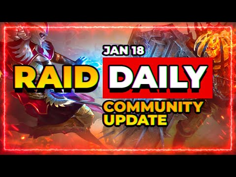 RAID Daily | Jan 18 | Current Events & Wrap Up!